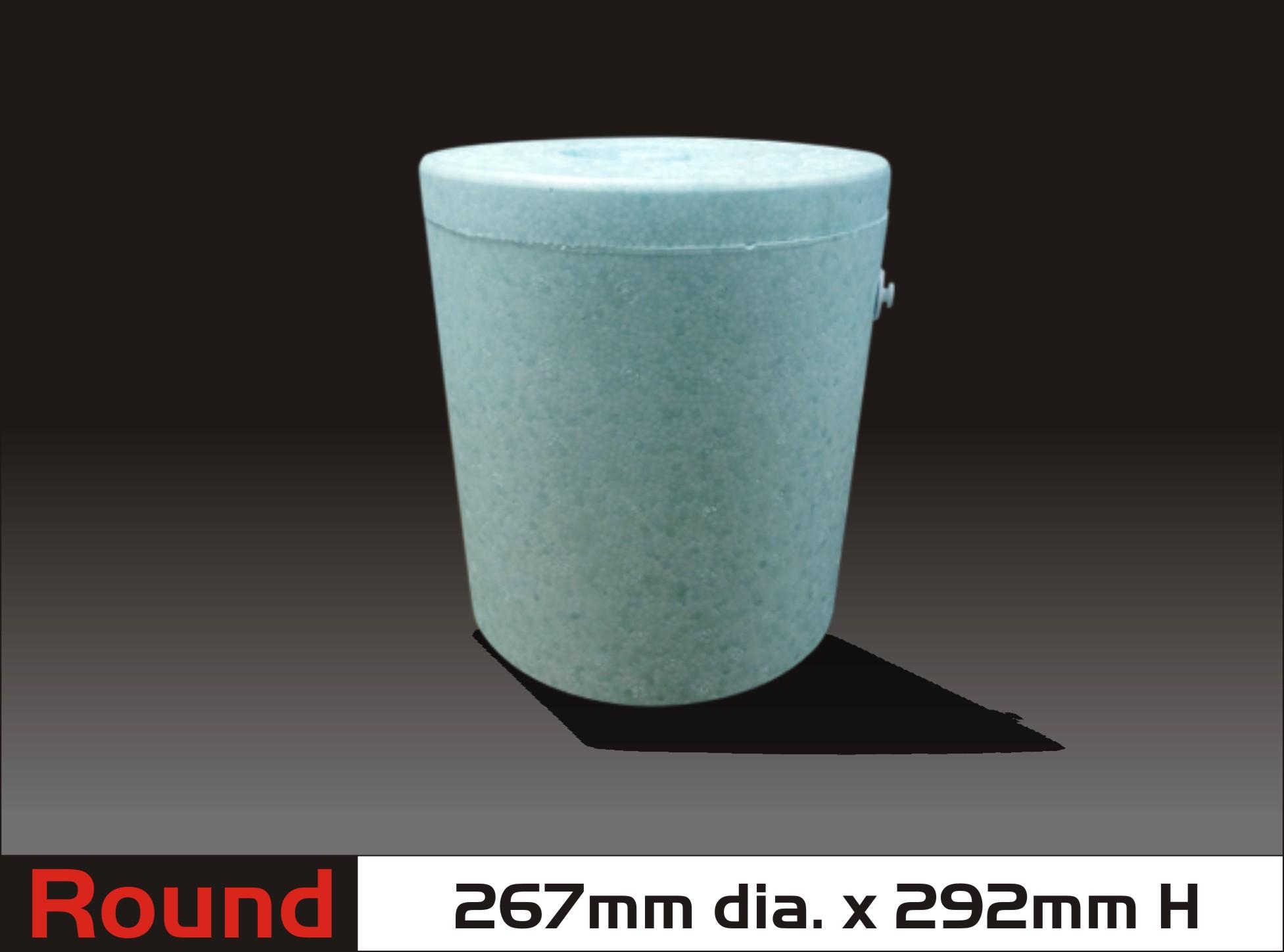 Round Styrofoam Cooler ~ Q c styropackaging corporation round